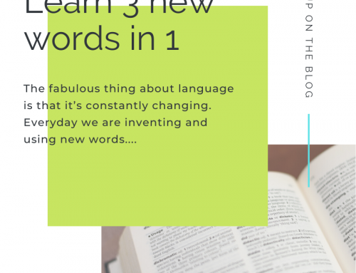 Learn 3 new words in 1